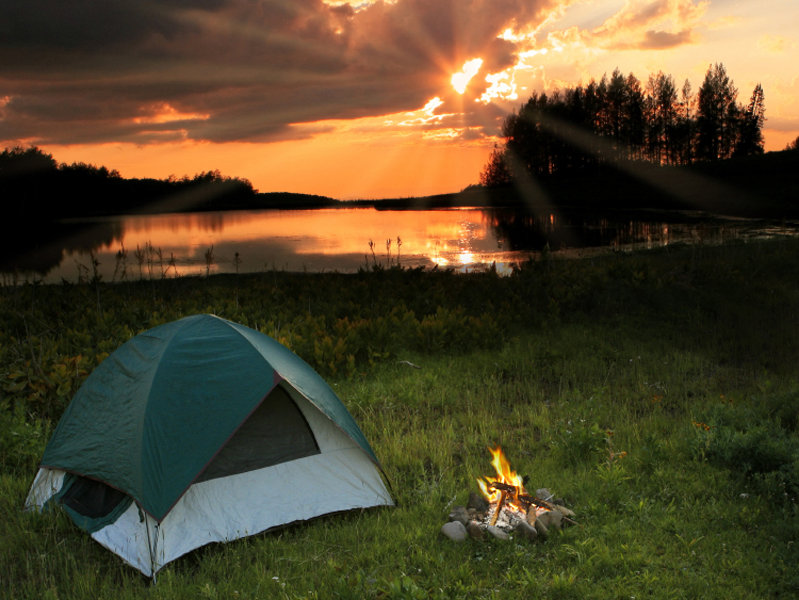 Summertime camping financial food for thought