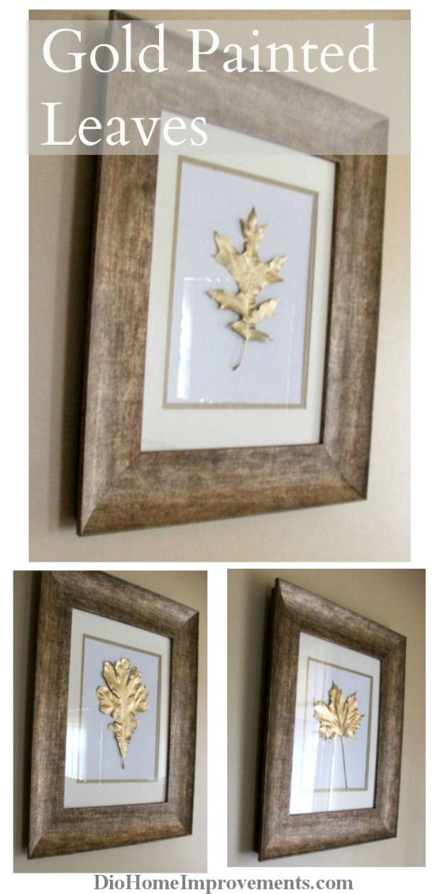 diy gold leaves